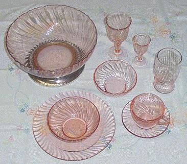 Modern Pink Glass & New Pink Glass